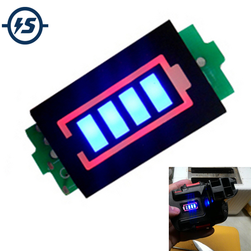 1S 2S 3S 4S 6S 7S Series Lithium Battery Capacity Indicator Module 12.6V Blue Electric Vehicle Battery Power Tester Li-po Li-ion
