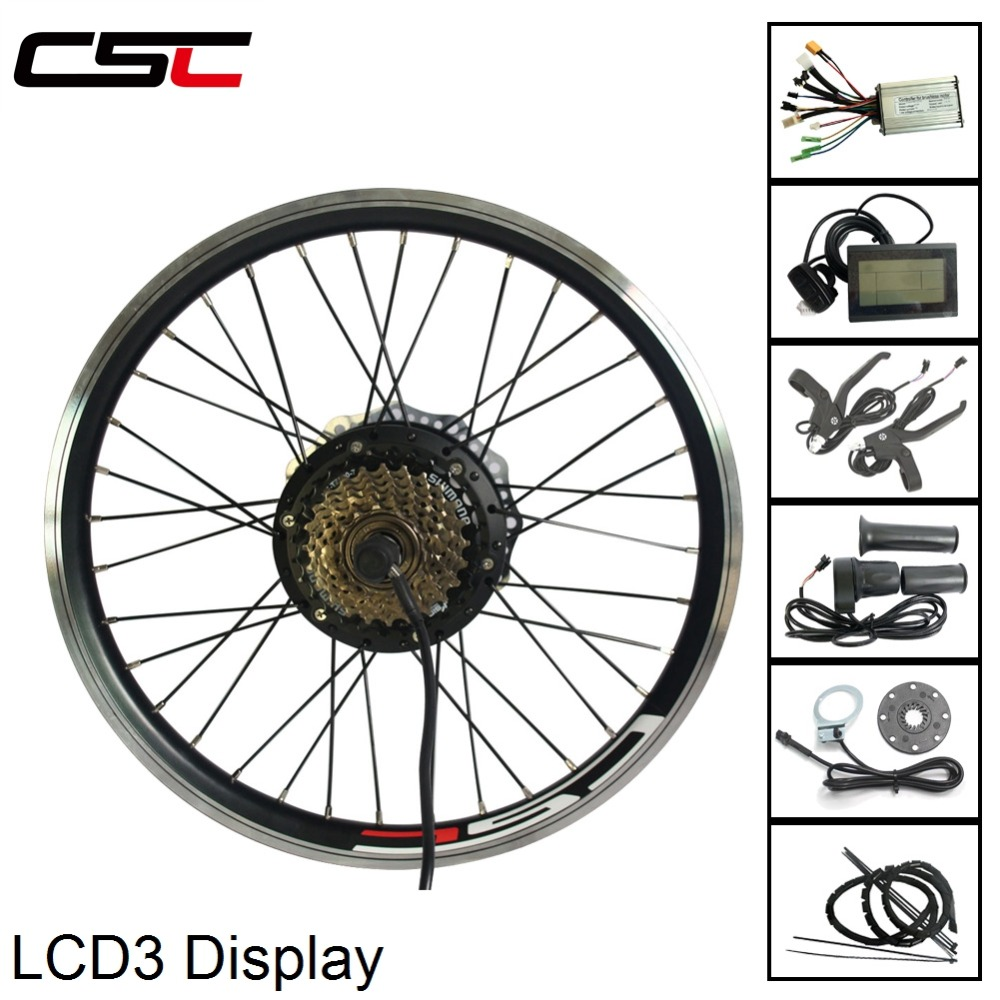 Electric Bike Conversion Kit for 20 29inch 700C 36V 500W Hub Motor Ebike kit rear Wheel