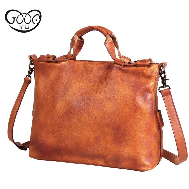 First layer of leather handbag retro style square cross oblique shoulder bag men's solid color briefcase tannery business packag polo women golf club clothing bag handbag nylon first layer of leather