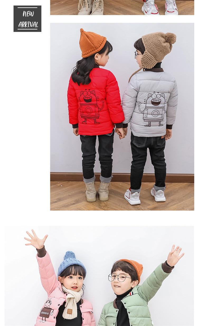 2018 Baby Boys Children Outerwear Coat Kids Jackets For Boy Girls Winter Jacket Warm Hooded Children Clothing Gray Khaki Red (15)