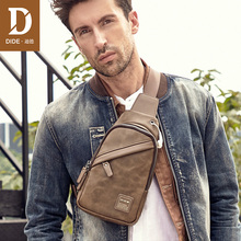 DIDE New Male Chest Bag Fashion Waterproof Man Casual Style Messenger Shoulder Bags For Teenager Bag men Headphone hole design dide new 100