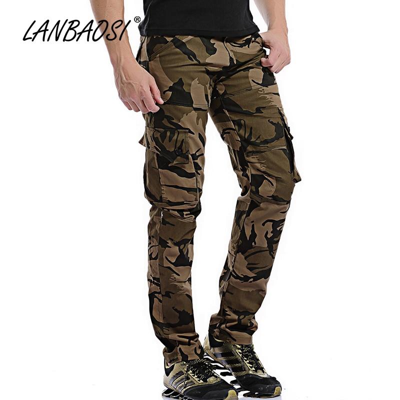Alkalmi férfi Camo rakomány nadrág Stílusos divat laza hadsereg - Férfi ruházat