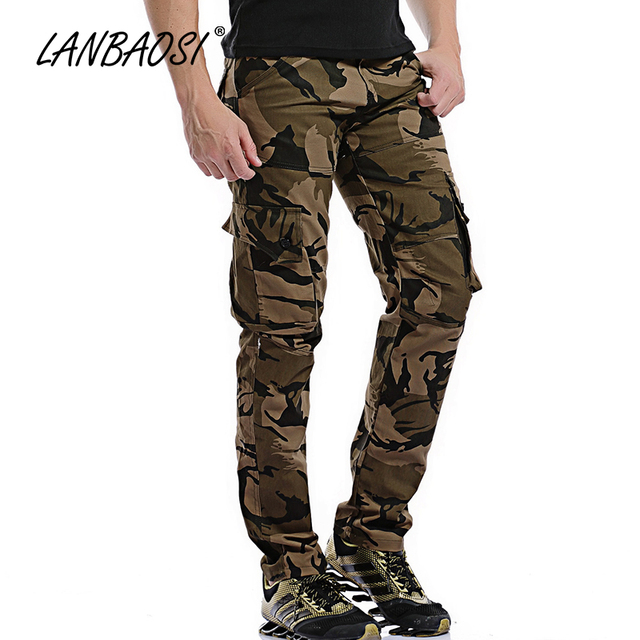 a42ce38c02699 Casual Men's Camo Cargo Pants Stylish Fashion Loose Army Military Multi-pocket  Tactical Trousers Overalls Plus Size