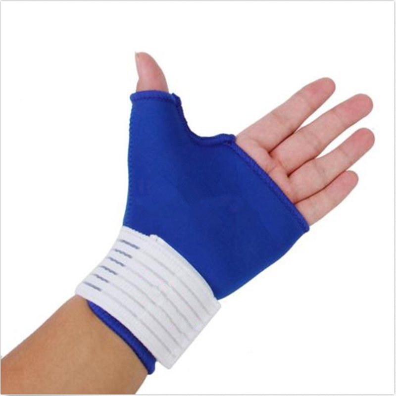 1Pcs Brand Outdoor Safe Tools Universal Wrist Palm Thumb Brace Guard Wrap Half Finger Glove Support Protector Sport Gym Fitness