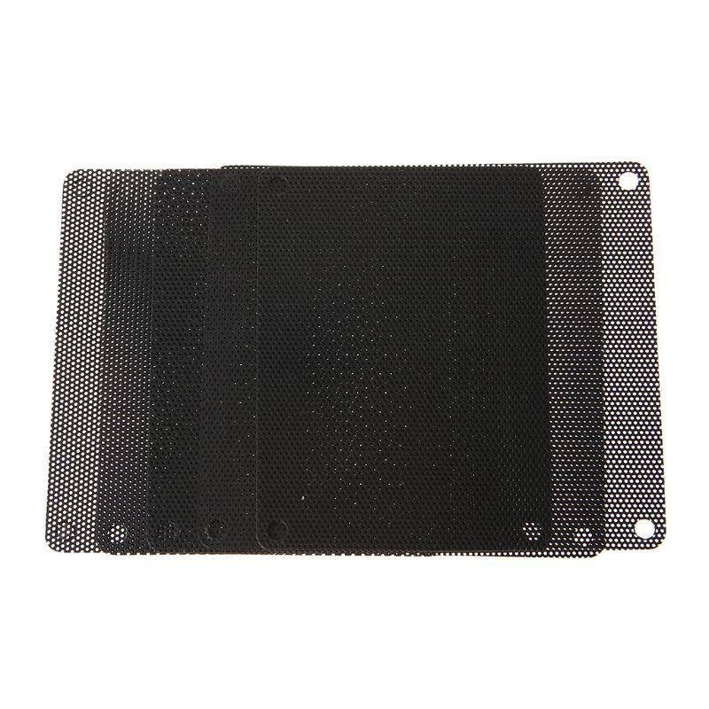 10 piezas de PVC de 120 MM ventilador de filtro de polvo de PC a prueba de polvo caso cortado ordenador cubierta de malla negro