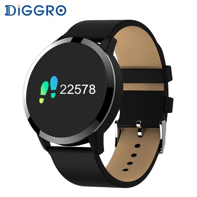 Diggro Q8 Advanced Bluetooth Fitness Smart Watch Stainless Steel Waterproof Smartwatch Wristwatch Men Women Tracker