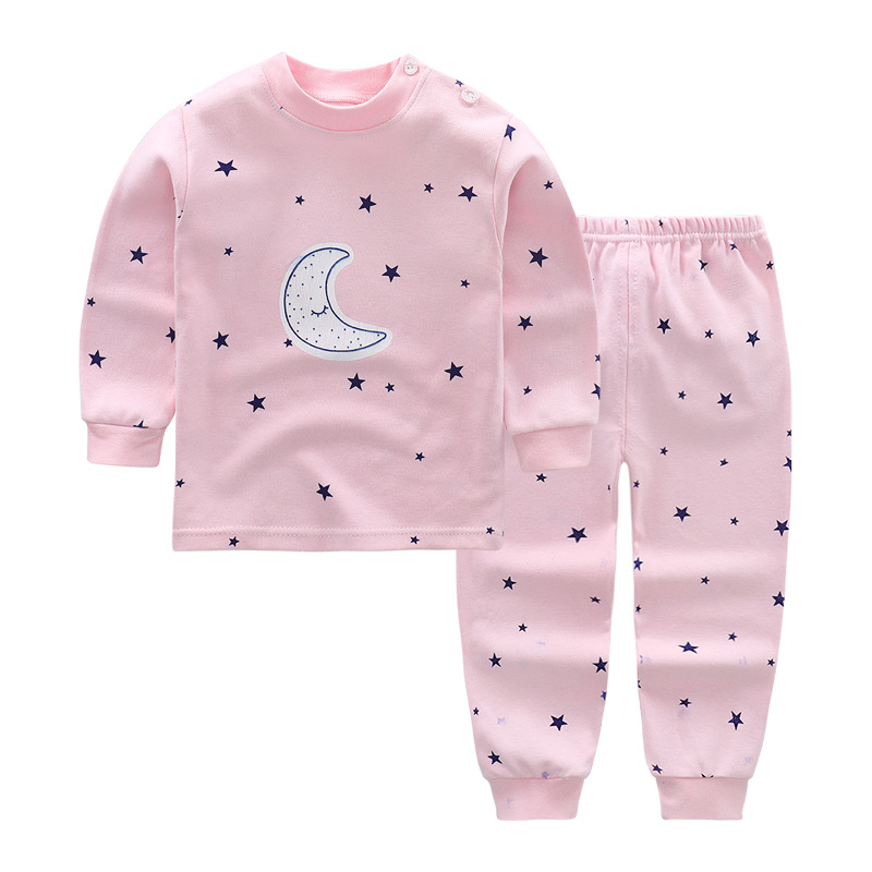 Moon Stars Baby Clothes Set Cotton Newborn Baby Girl Boy