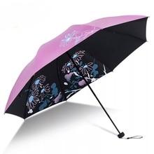 Yuding Three-folding Non-auto Women Umbrella Flowers Parasol High Fashion Custom Woman Umbrellas for Gifts