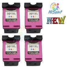 Spread Golden 4pk INK Cartridge For HP 301 Genuine DeskJet 1050 2050 2050s 2510 3050a 3510 D1010 1510 printer Free Shipping