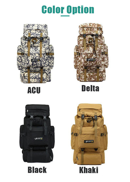 70L Outdoor Backpack Molle Military Tactical Backpack Rucksack Sports Bag Waterproof Camping Hiking Backpack For Travel 4
