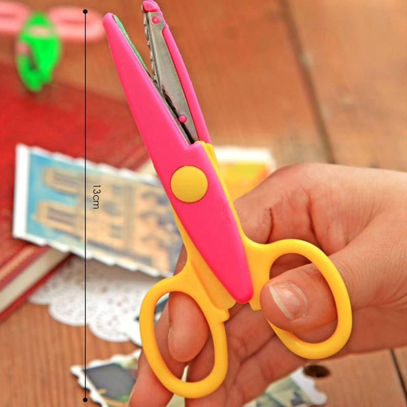 Random Color 1Set/6pcs Design Decorative Wave Lace Edge Craft School Scissors DIY for Sc ...