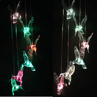 Solar Powered Wind Bell LED Light Color Changing Outdoor Yard Garden Home Decor Wind Chimes Colgantes