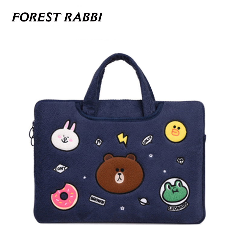 Cute animal 11 -15.6 Laptop bag sleeve notebook bag Laptop bag case 13.3 inch For Macbook air pro 13 Case casual for XiaoMi