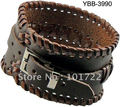Fashion leather bangle Mens Leather Braided Bracelet