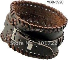 Fashion leather bangle Mens Leather Braided Bracelet