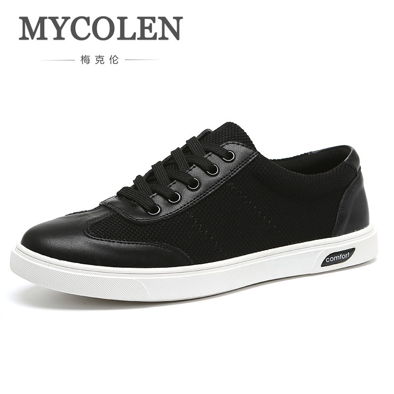MYCOLEN New Luxury Brand Casual Shoes Men Spring New Arrival Lace-Up Style Fashion Sneakers Outdoors Light Shoes Soulier Homme mycolen men sneakers 2018 new style shoes men sports shoes solid comfortable lace up men casual shoes chaussure homme sport