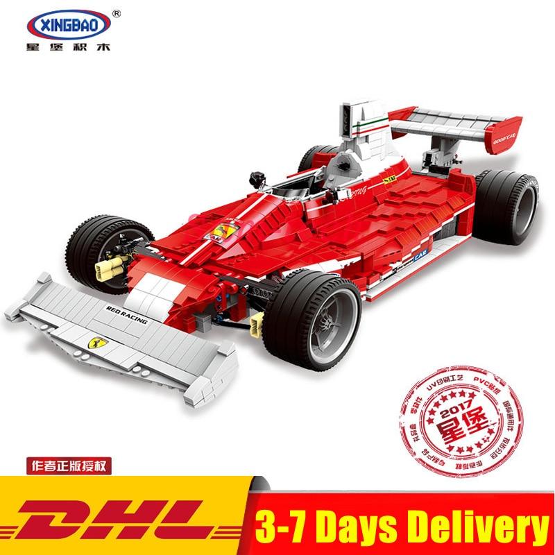 XINGBAO 03023 Genuine The Red Power Racing Car Set Self-Locking Building Blocks Bricks Educational Toy Christmas Gifts for Kids