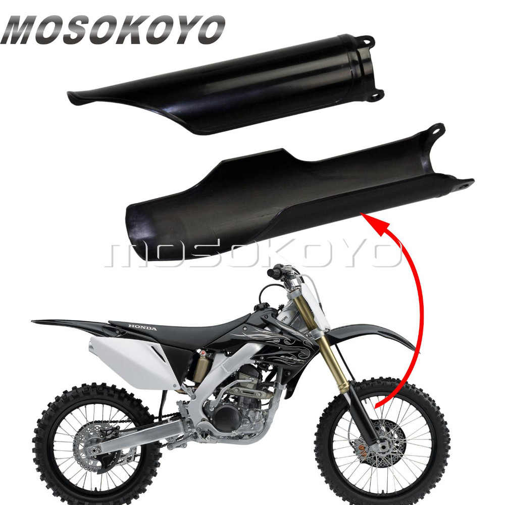 2pcs Motorcycle Front Fork Guard for Honda CR125 CR250 CR500 93-2018 CRF250X CRF250R CRF450R <font><b>CRF</b></font> <font><b>450</b></font> RX Supermoto <font><b>Plastic</b></font> Guards image