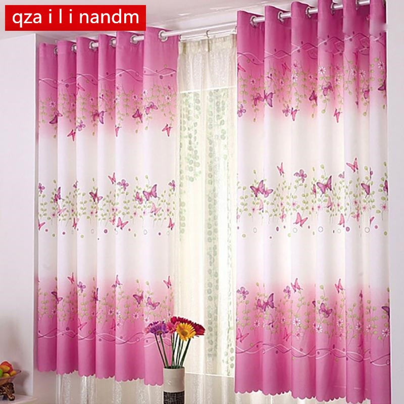 1PC 7 color Short curtain half shade Curtains for the Bedroom Fancy Children Modern Living Room Kids