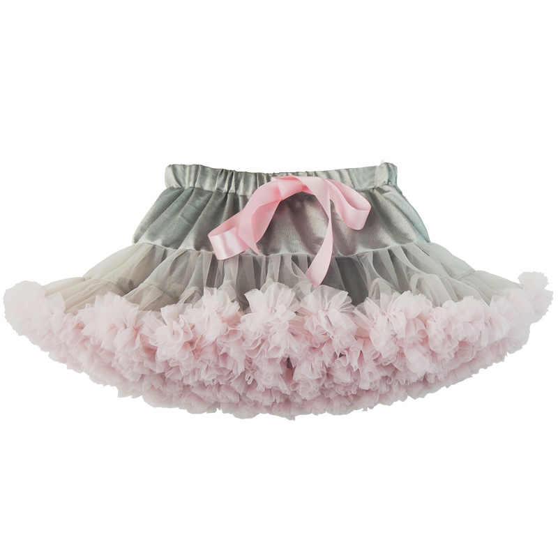 זרוק משלוח בייבי בנות טוטו חצאית פלאפי ילדי בלט ילדים Pettiskirt תינוקת חצאיות נסיכת טול המפלגה ריקוד חצאיות