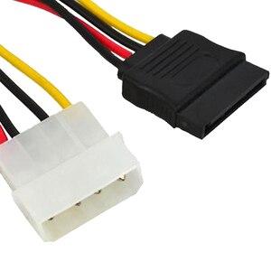 Image 2 - Marsnaska Tuyệt Vời 1 Cái Serial ATA SATA 4 Pin IDE Đến 15 Pin Nguồn HDD Cáp Ổ Cứng Adapter với Sợi Dây Cáp