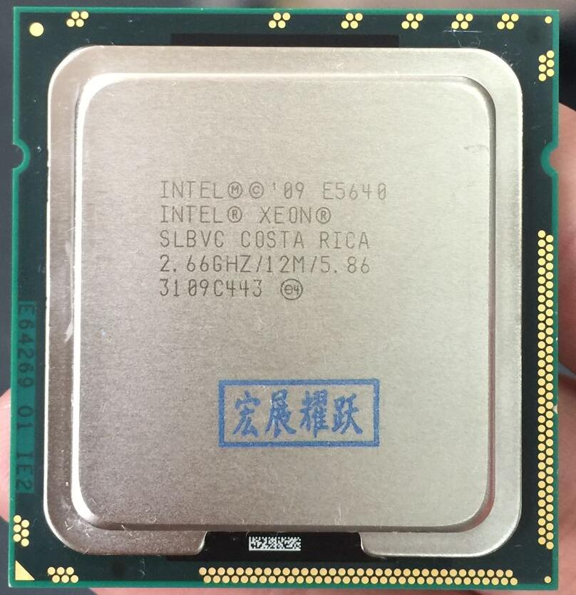 PC computer Intel Xeon Processor E5640 (12M Cache, 2.66 GHz, 5.86 GT/s Intel QPI) LGA1366 Desktop CPU