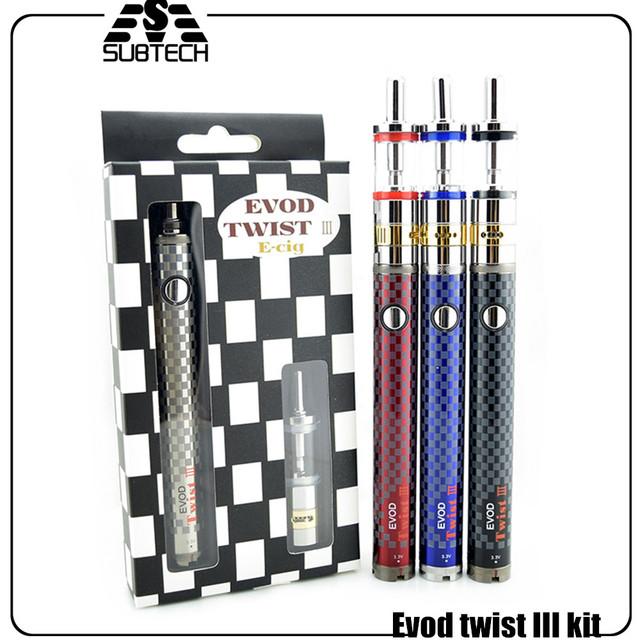 O cigarro eletrônico starter kit Evod torção iii Bobina Dupla airflow M16 controle mega e cig atomizador Evod torção e cigarro bateria