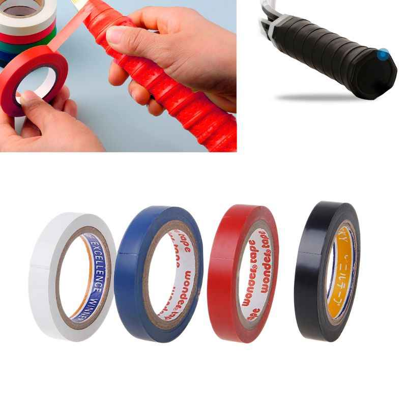 Random delivery 8m Squash Badminton Tennis Racket Head Protection Stickers Winding Handle Tape Protector Accessories