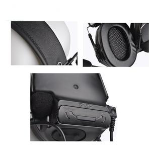 Image 5 - Аксессуары для Airsoftsports, наушники Comtac III с шумоподавлением, гарнитура с PTT Kenwod, тактическая гарнитура для стрельбы Z051 + Z113