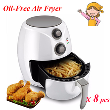 8pcs/lot 2.6L Household Oil-free Air Fryer Intelligent Smokeless Fryer with Large Capacity Fries Machine SB-011
