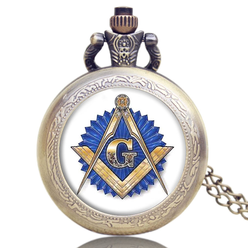 4 Design Bronze Vintage Quartz Pocket Watch Free Mason/Sword Art Online/Gear Necklace Pendant Chain Womens Mens Gifts P1123 bronze quartz pocket watch old antique superman design high quality with necklace chain for gift item free shipping