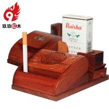 Сигареты дерево ремесел палисандр полуавтомат принять деревянная рамка сигаретный дым из идеи, чтобы взять горячей детекторы дыма