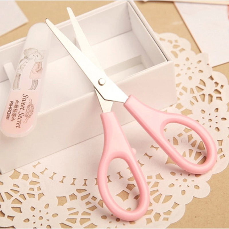 DIY Resin Craft Scissors Cute Kawaii Scrapbooking Scissors Kids Home Decoration Photo Album School Supplies Student 1302 plastic embossing foldet flower diy scrapbooking photo album card paper craft decoration template