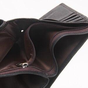 Image 5 - Contacts本革男性の財布カードホルダーパスポートカバー男性の財布portomonee男ショート財布ポートフォリオwalet