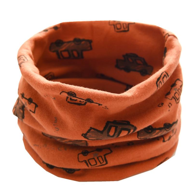 Новинка; сезон осень-зима; шарф из хлопка для девочек; Детский шарф; нагрудный шарф для мальчиков и девочек с круглым кольцом; милый детский шарф с воротником; Bufandas - Цвет: new orange car