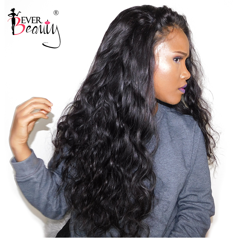 Glueless Полный конец Синтетические волосы на кружеве человеческих волос парики для Для женщин Бразильский объемная волна Синтетические волос...