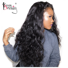 Glueless Full End Lace Front Human Hair Wigs For Women Brazilian Body Wave Lace Front Wig Black 250% Density Remy Ever Beauty