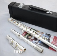 New Top Music Flute YFL 271 17open Obturator C Pure Silver E Key Flute Musical