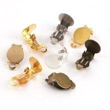 10mm de metal sapo clipes volta base ajuste da orelha almofada plugging voltar rolha ajuste diy acessórios para o cabelo jóias descobertas