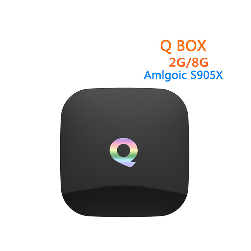 [WeChip] Q Box android tv box HD Media player Amlogic S905X 64bits 2GB 8GB mi box Gigabit LAN WiFi H.265 Set Top Box