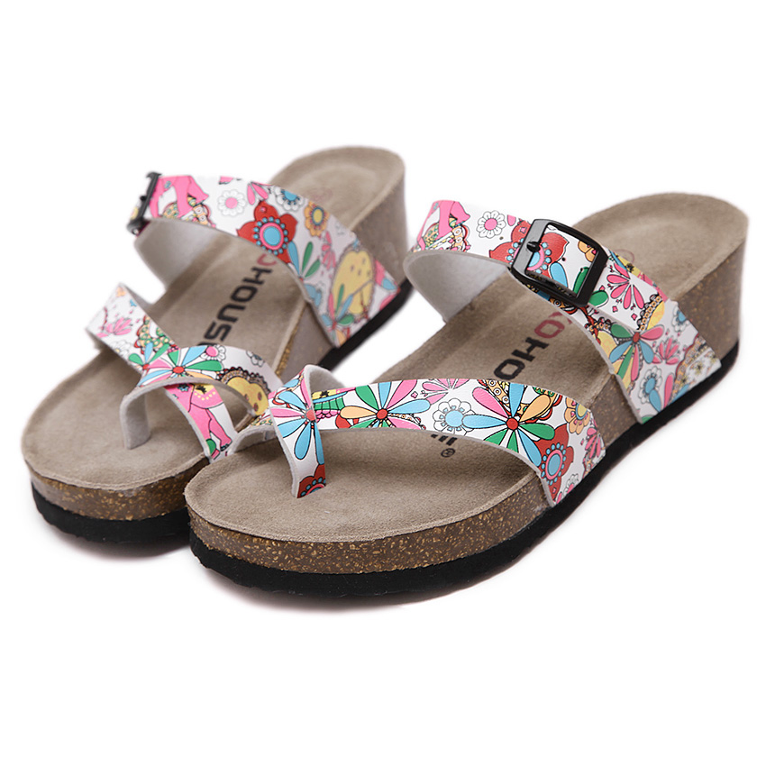 Summer shoes flip flops casual Genuine Leather platform sandals vogue cork wedges beach slippers women big size 40 Multicolor casual wedges sandals 2017 summer beach women shoes platform flip flops print sandal comfort creepers shoes woman