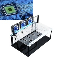 Acrylic Crypto Coin Open Air Mining Frame Rig Case For 6 GPU ETH BTC Ethereum High