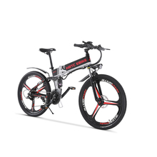 26inch electric mountain bike 500W high speed 40km/h fold electric bicycle 48v lithium battery hidden in frame EMTB