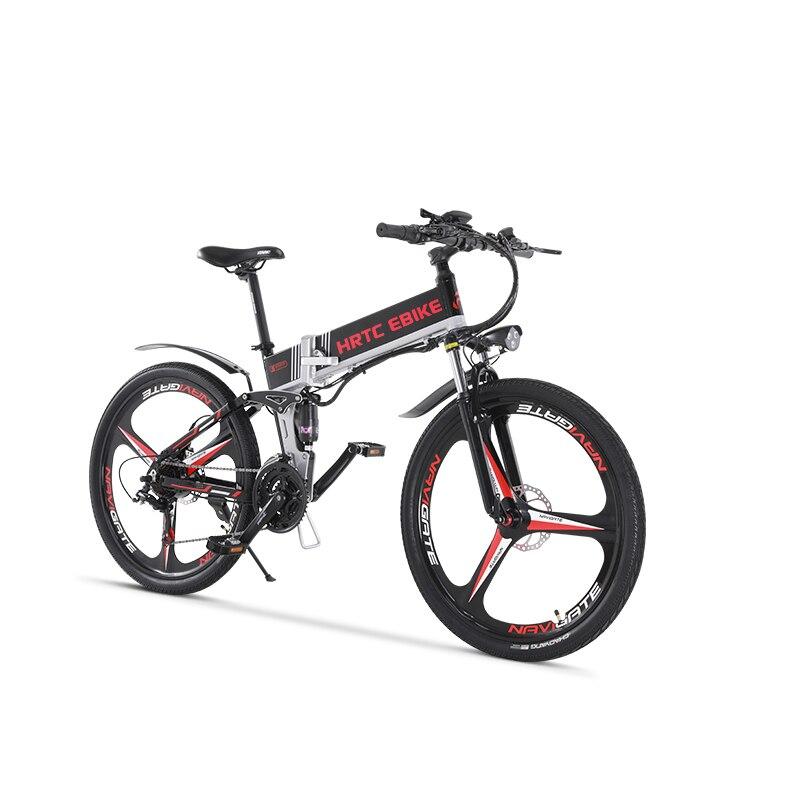 26 polegada bicicleta de montanha elétrica 400w ebike 400W dobrar bicicleta elétrica de alta velocidade kmh 40 48v de lítio bateria escondida no quadro EMTB