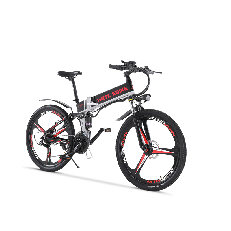 26inch electric mountain bike 400w ebike 400W high speed 40km/h fold electric bicycle 48v lithium battery hidden in frame EMTB