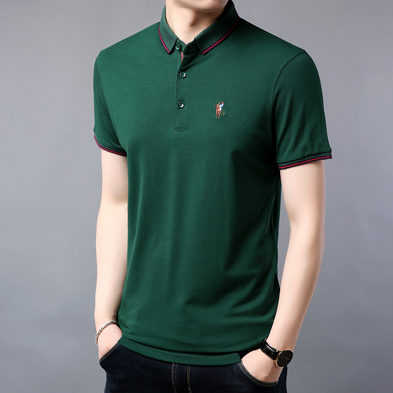 2019 Summer New Mens Polo Shirt Brands Casual Knitted Designer Men's Polo Shirt High Quality Cotton M-3XL Men Luxury Polo Shirt