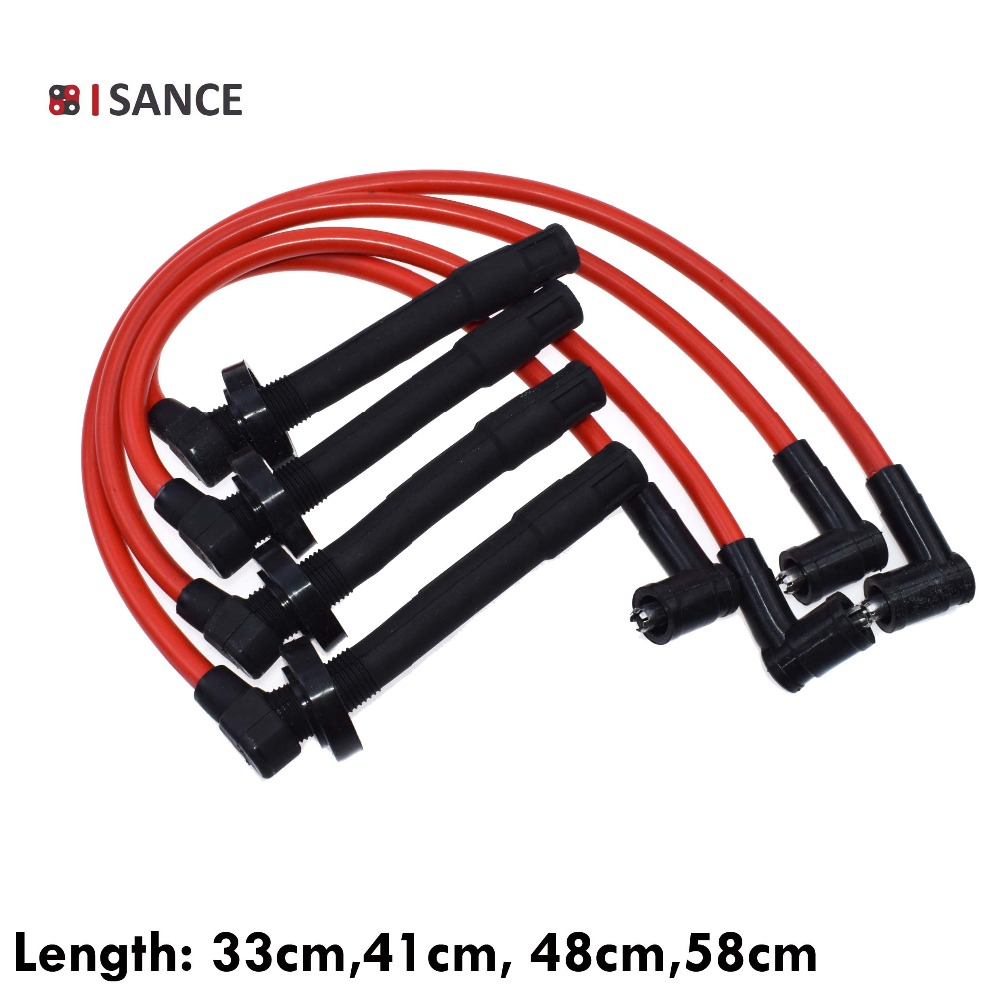 hight resolution of isance ignition spark plug wire cable set d15 d16 10 2mm for honda civic dx lx