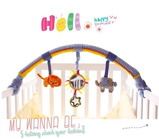 Новый 1 шт. плюшевые игрушки с Зеркалом, автомобиль кровать вручая детские погремушки