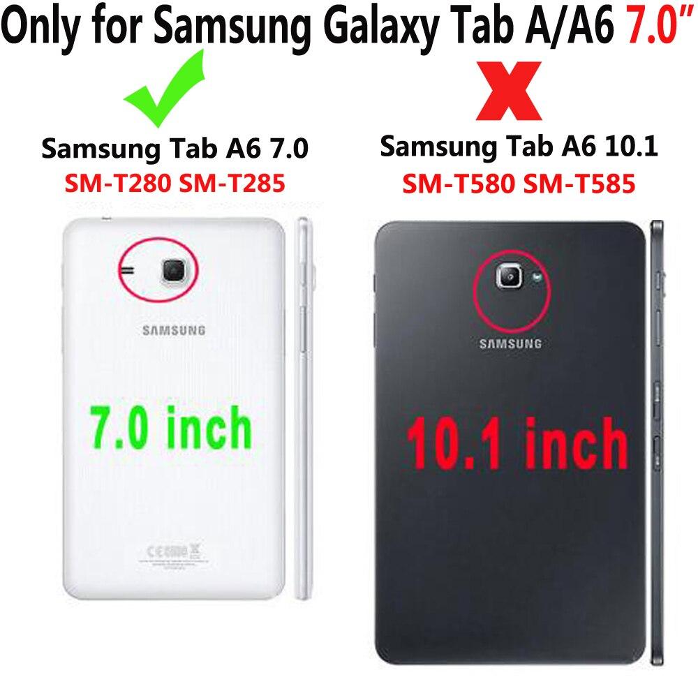 Гибридный армированный силиконовый чехол с подставкой для планшета Samsung Galaxy Tab A A6 7,0 дюйма 2016 дюйма T280 T285-1