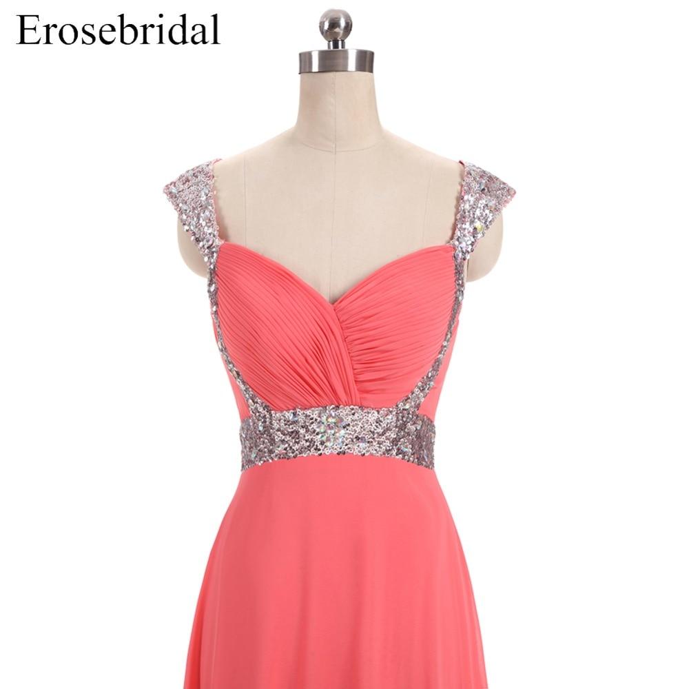 [Распродажа] шифоновое вечернее платье Длинное Элегантное длинное вечернее платье с блестками и бисером на шнуровке сзади милое